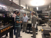 November 12, 2015 - KAUST president Jean-Lou Chameau visits the Photonics Lab.